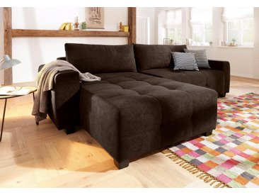 Home affaire Ecksofa »Bella«, Steppung im Sitzbereich, braun, ohne Bettfunktion, dunkelbraun