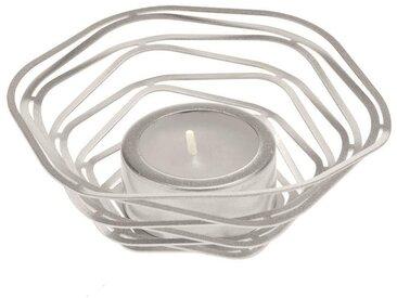 Glorex Teelichthalter »Alu-Flex«, Ø 9,5 cm, silberfarben, Matt-Silber
