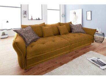 INOSIGN Big-Sofa »Palladio Luxus«, mit besonders hochwertiger Polsterung für bis zu 140 kg pro Sitzfläche, gelb, ohne RGB-LED-Beleuchtung, curry