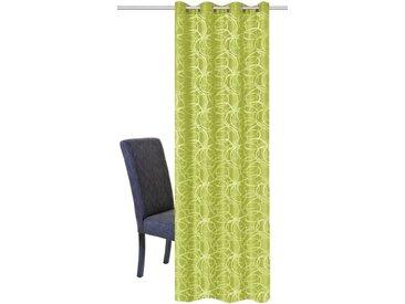 HOME WOHNIDEEN Vorhang »LENNY«, Ösen (1 Stück), HxB: 245x140, Dekostoff Jacquardgemustert, grün, grün