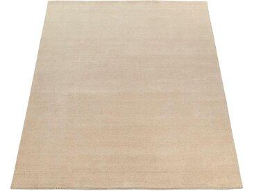Paco Home Teppich »Atlas 100«, rechteckig, Höhe 14 mm, Kurzflor-Gabbeh, aus Baumwolle Einfarbig, natur, creme
