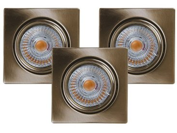 SPOT Light Deckenstrahler »Ledsdream«, 3-flammig, 3er Set LED Einbauleuchte, Inklusive austauschbare LED-Leuchtmittel, 5W, 2700K