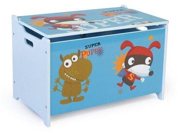 Homestyle4u Spielzeugtruhe, Spielzeugkiste Kinder Spielkiste, blau, blau