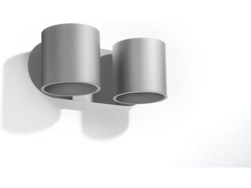 Licht-Erlebnisse Wandleuchte »VALERYA Wandlampe Grau Metall 2-flammig G9 Up & Down Wohnzimmer Flur Treppe«