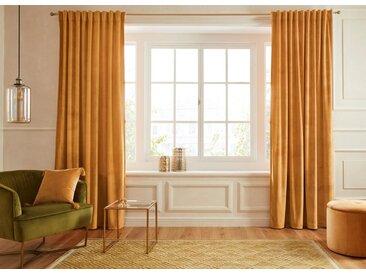 Guido Maria Kretschmer Home&Living Vorhang »SAMT«, Multifunktionsband (1 Stück), goldfarben, goldfarben