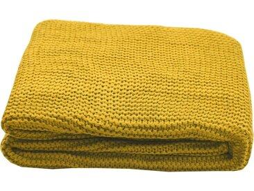 TOM TAILOR Plaid »Plain Knit«, Zeitlos schön, gelb, gelb