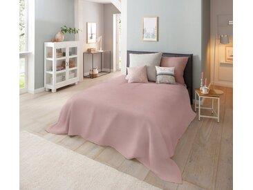 Home affaire Tagesdecke »Melli«, auch als Tischdecke und Sofaüberwurf einsetzbar, rosa, altrosa-meliert