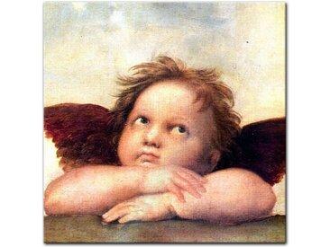 Bilderdepot24 Glasbild, Glasbild Raffael - Alte Meister - Engel II - Detail Sixtinische Madonna
