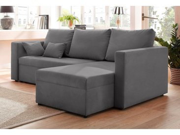 Home affaire Ecksofa »Pur«, grau, ohne Bettfunktion, grau
