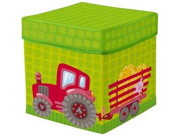 Haba Aufbewahrungsbox »HABA Sitzwürfel Traktor 30 cm«