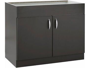 wiho Küchen Spülenschrank »Flexi« Breite 100 cm, grau, Anthrazit
