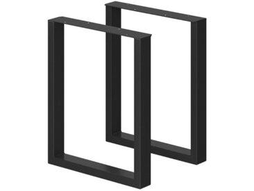 Vicco Tischbein »Tischbeine Loft Tischkufen pulverbeschichtet 2er Set 72x60 cm«