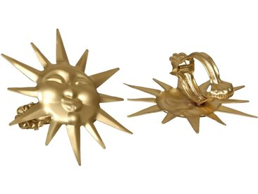 Liedeco Dekoklammer »Sonne«, Gardinen, Vorhänge, (Packung, 2-St), für Gardinen, Vorhänge, goldfarben, goldfarben