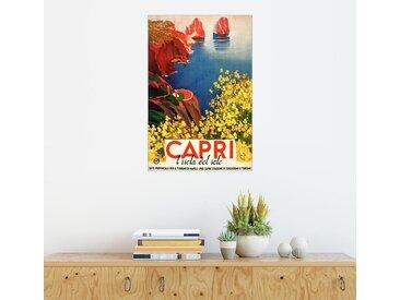 Posterlounge Wandbild, Italien - Capri die Sonneninsel, Leinwandbild