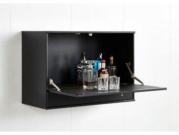 hammel Barschrank »MISTRAL« mit Klappe, Schublade und LED Spot, schwarz, schwarz gebeizt