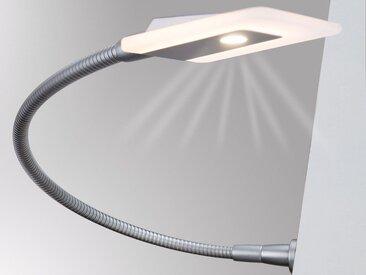 kalb Bettleuchte » LED Bettleuchte Leseleuchte Flexleuchte Nachttischlampe Leselampe Nachtlicht«, 2er SET silbergrau