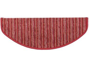 Kubus Stufenmatte »Rom«, Halbrund, Höhe 4 mm, rot, Rot