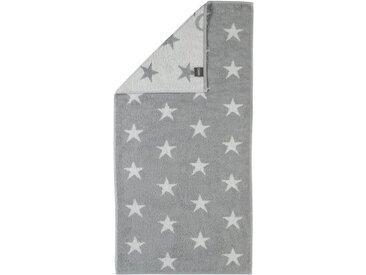 Cawö Badetuch »Stars Small« (1-St), mit Wendeseite, grau, silberfarben