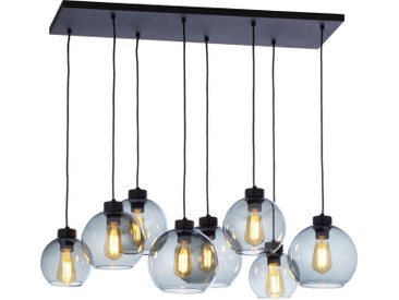 Licht-Erlebnisse Pendelleuchte »KALETE Moderne Pendelleuchte Esszimmer Schwarz Graphit Glas Metall Hängelampe«