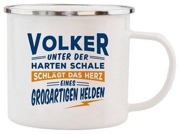 HTI-Living Becher »Echter Kerl Emaille Becher Volker«