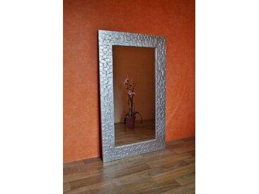 Bilderdepot24 Glasbild, Wandspiegel - Kacheln ca. 90x70 cm, bunt, Silber