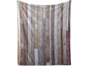 Abakuhaus Foulard »Gemütlicher Plüsch für den Innen- und Außenbereich«, rustikales Holz Retro-Effekt-Fotografie