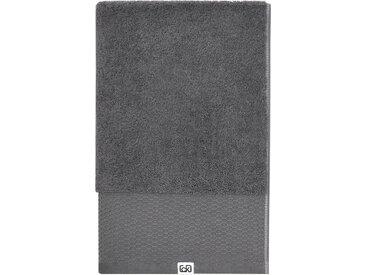 Calvin Klein home Waschlappen »Riverstone« (3-tlg), aus Bio Baumwolle, grau, charcoal