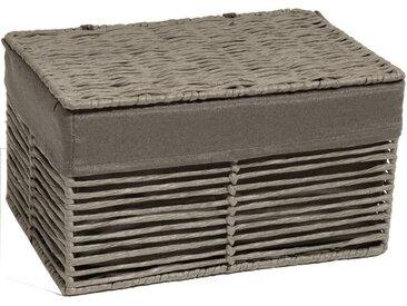 Franz Müller Flechtwaren Aufbewahrungsbox, mit Deckel zum staubfreien Aufbewahren, grau, grau