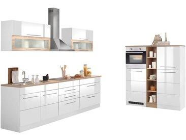 HELD MÖBEL Küchenzeile »Wien«, mit E-Geräten, Breite 430 cm, weiß, mit Induktion, weiß