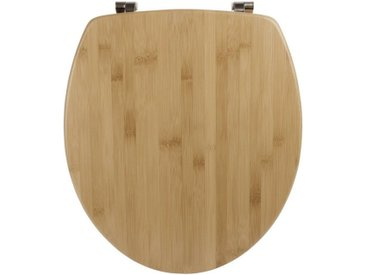 Calmwaters WC-Sitz, Bambus, Holz, Echtholz, O-Form, verbesserte Puffer, Edelstahlbefestigung