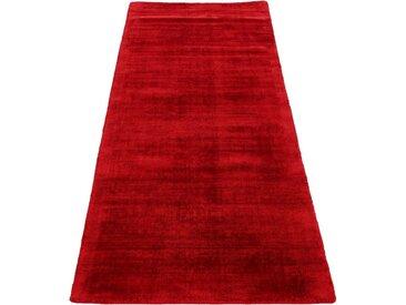 carpetfine Läufer »Ava«, rechteckig, Höhe 13 mm, Viskoseteppich, Seidenoptik, rot, rot