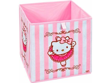 Home affaire Faltbox »Hello Kitty«, rosa, rosa-weiß