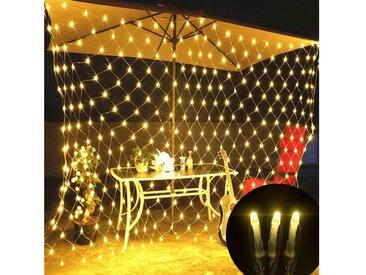TOPMELON Lichterkette, LED Net Mesh Lichterkette, Wasserdicht, 4 Größen,Weihnachtsdekoration, weiß, 144 St., Warmweiß