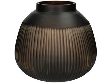 Engelnburg Dekovase » Vase Blumenvase Glas Braun 25x28x28«