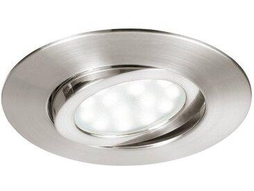 Lutec LED Einbaustrahler »LED Movibile IP44 Nickel«
