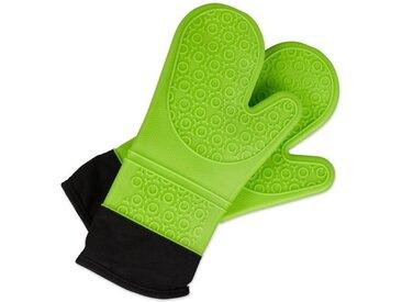relaxdays Topfhandschuhe »Ofenhandschuhe Silikon«, Grün
