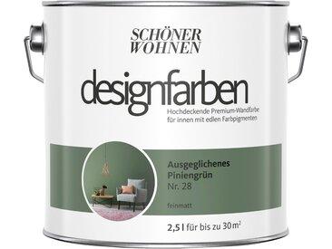 SCHÖNER WOHNEN-Kollektion SCHÖNER WOHNEN FARBE Farbe »Designfarben«, Ausgeglichenes Piniengrün Nr. 28, feinmatt 2,5 l, grün, 2.5 l