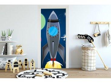 Bilderdepot24 Deco-Panel, Türaufkleber - Kinderbild Rakete