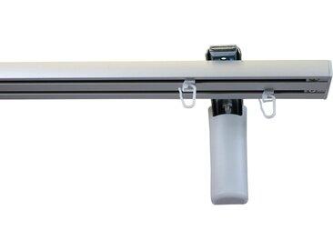GARESA Gardinenschiene »Flächenvorhangschiene 2 - 5 lauf, spezial«, 2-läufig, Wunschmaßlänge, grau, aluminiumfarben