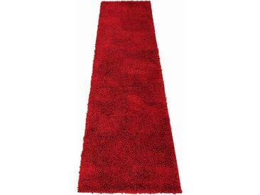Home affaire Hochflor-Läufer »Shaggy 30«, rechteckig, Höhe 30 mm, gewebt, rot, weinrot