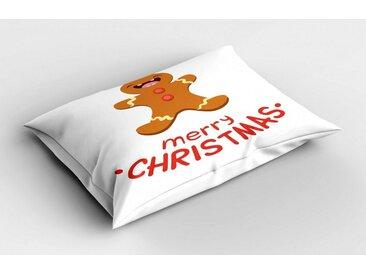 Abakuhaus Kissenbezug »Dekorativer Standard Size Gedruckter Kopfkissenbezug«, Weihnachten Lustiger Lebkuchen-Plätzchen