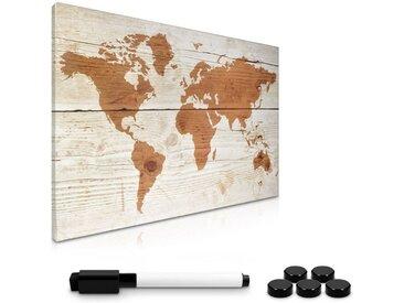 Navaris Magnettafel, Magnetpinnwand Memoboard zum Beschriften - 60x40 cm Notiztafel - Tafel abwaschbar mit Halterung Magneten Stift