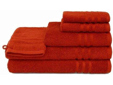 grace grand spa Duschtuch »Aktion« (1-St), mit attraktiver Streifen-Bordüre, rot, rot