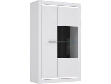 expendio Vitrine »Livorno 3« weiß Hochglanz 98x160x42 cm mit LED-Lichtleisten und Glasbodenbeleuchtung, mit Glasbodenbeleuchtung