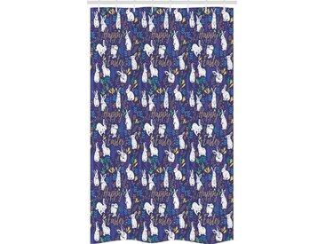 Abakuhaus Duschvorhang »Badezimmer Deko Set aus Stoff mit Haken« Breite 120 cm, Höhe 180 cm, Ostern Floral Bunnies Poses
