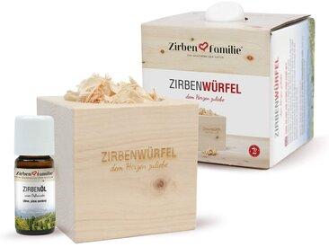 Zirbenfamilie Duftkerze »ZirbenFamilie Zirbenwürfel und Zirbenöl Set«