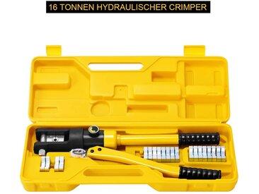 COSTWAY Crimpzange »Professionelles Crimp-Werkzeug Set«, 16T Hydraulisch, 16–300mm², mit 11 Paar Aufsätzen