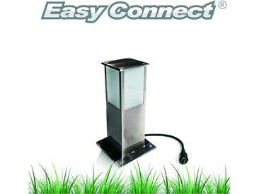 SPOT Light Gartenleuchte »Easy Connect«, Marke: CALI, EASY CONNECT Viereckige Sockelleuchte, LED 5W, Eedelstahl, Höhe 30 cm