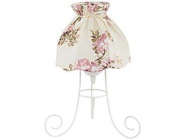 Licht-Erlebnisse Tischleuchte »FANNY Tischlampe Stoffschirm Weiß Creme romantisch Nachttischlampe Lampe«