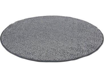 Andiamo Teppich »Shaggy uni«, rund, Höhe 15 mm, grau, grau